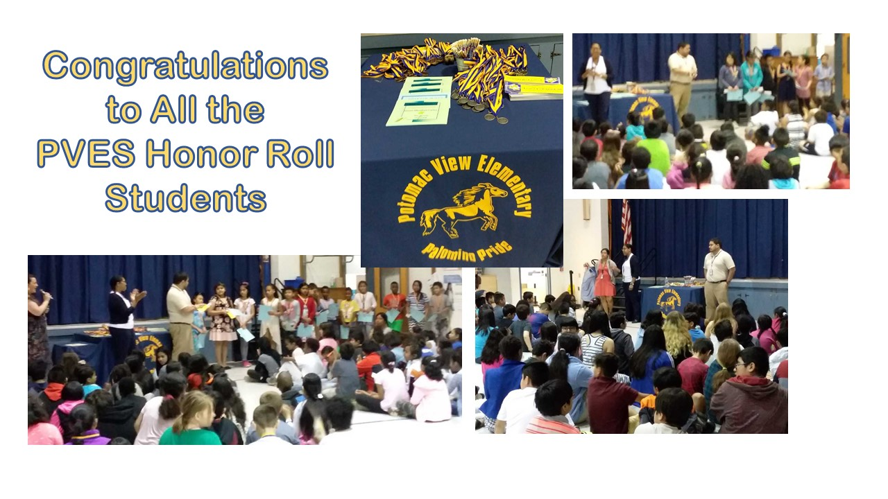 Congratulations to All the PVES Honor Roll Students